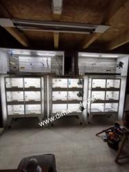 Batterie elevage avec Éclairage Dimmer-leds Ref 010