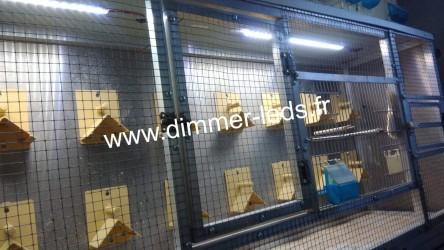 Volière aluminium avec Éclairage Dimmer-leds Ref 007