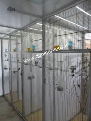Volière aluminium avec Éclairage Dimmer-leds Ref 008