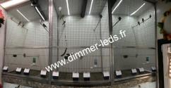 Volière aluminium avec Éclairage Dimmer-leds Ref 009