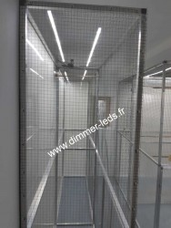 Volière aluminium avec Éclairage Dimmer-leds Ref 010