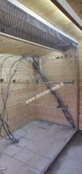 Volière bois avec Éclairage Dimmer-leds Ref 002