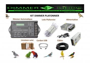 Kit Dimmer & Plafonniers (Qté 8)